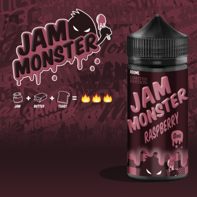 Jam Monsters - Raspberry جام مونستر توت العليق