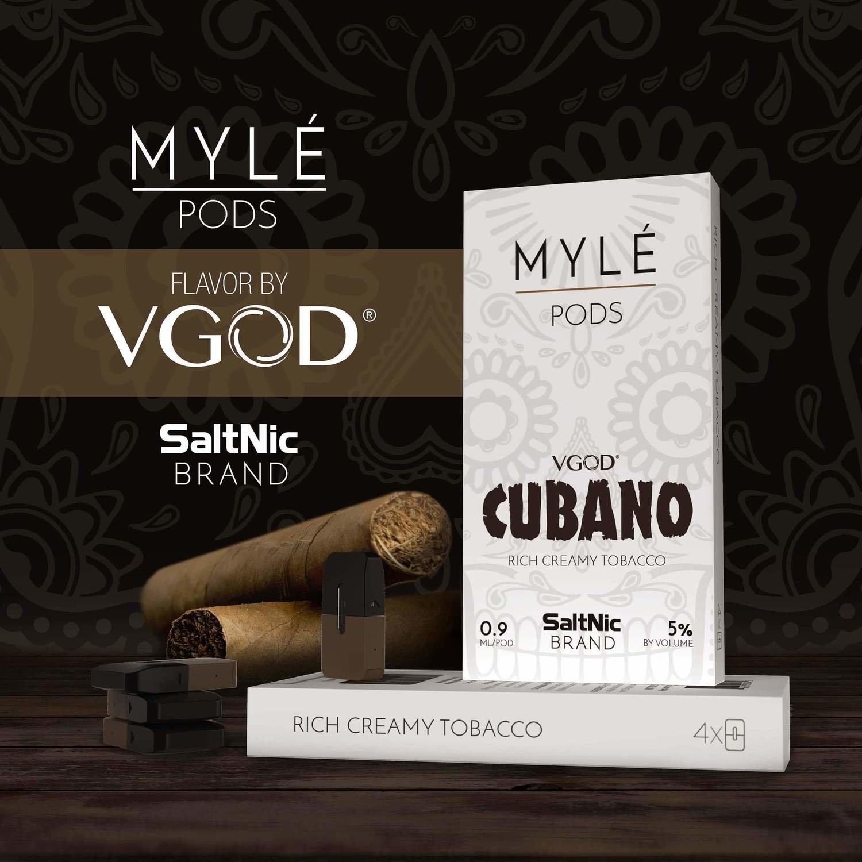 Myle Cubano Replacement Pods - 50MG - بودات كوبانو لجهاز سحبة السيجارة مايلي