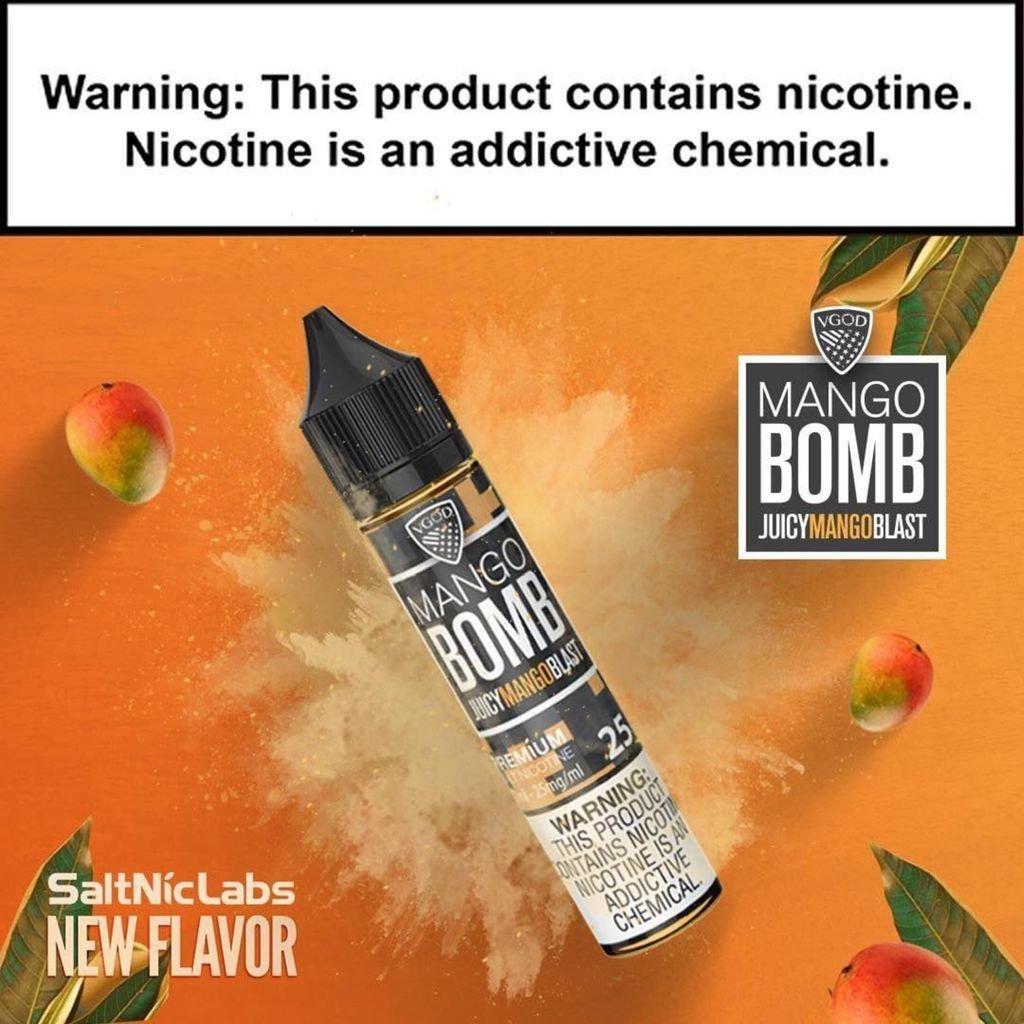 VGOD/SaltNic - Mango Bomb في جاد وسولتنيك قنبلة المانجو نيكوتين ملحي