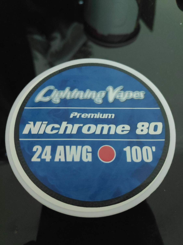 Lightning Vapes - Nichrome 80 wire 24ga 100'  بكرة أسلاك نايكروم من لايتنينج فيب