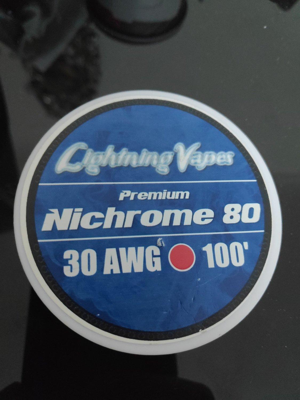 Lightning Vapes - Nichrome 80 wire 30ga 100'  بكرة أسلاك نايكروم من لايتنينج فيب