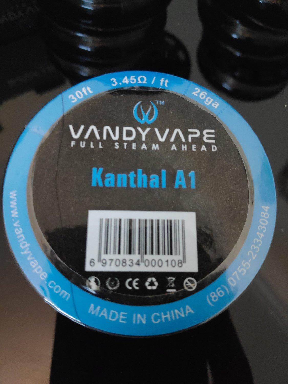 Vandy Vape - Kanthal A1 wire 26ga. بكرة أسلاك كانثال من فاندي فيب