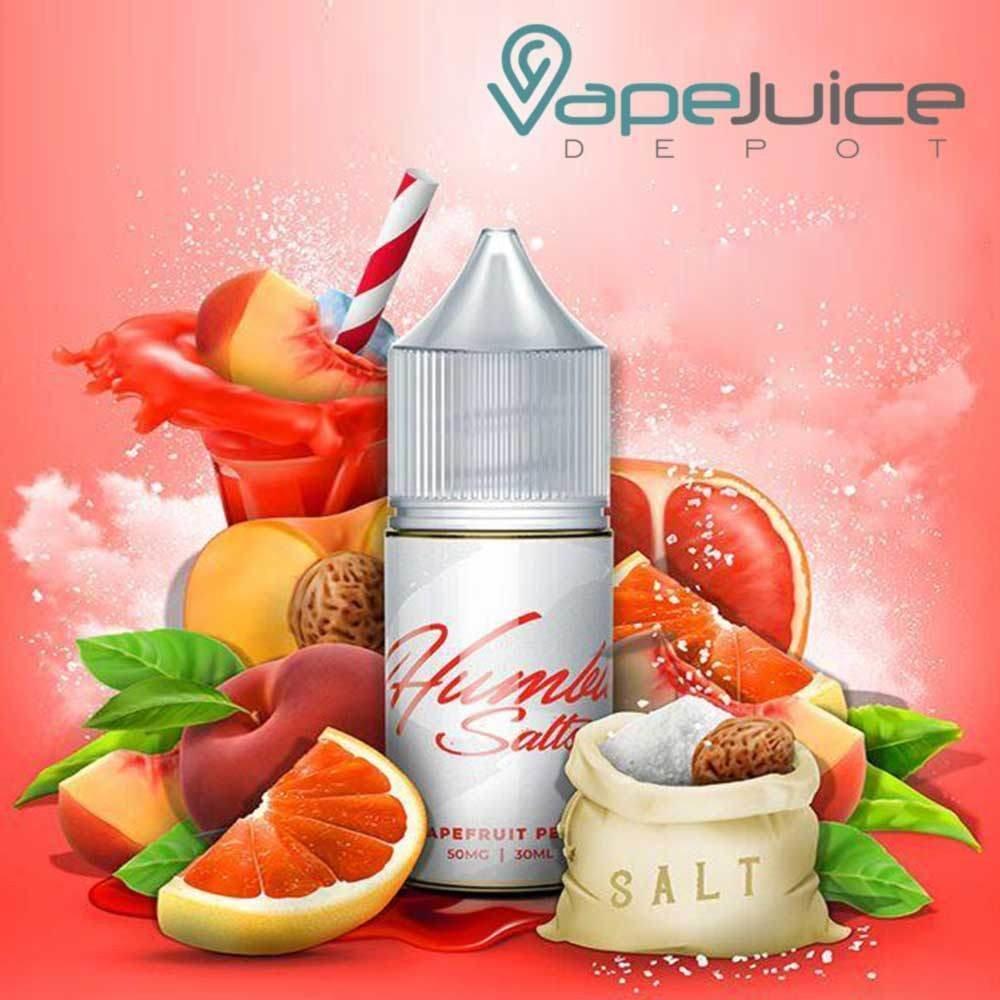 Humble Salts - Grapefruit Peach هامبل خوخ وجريبفروت نيكوتين ملحي