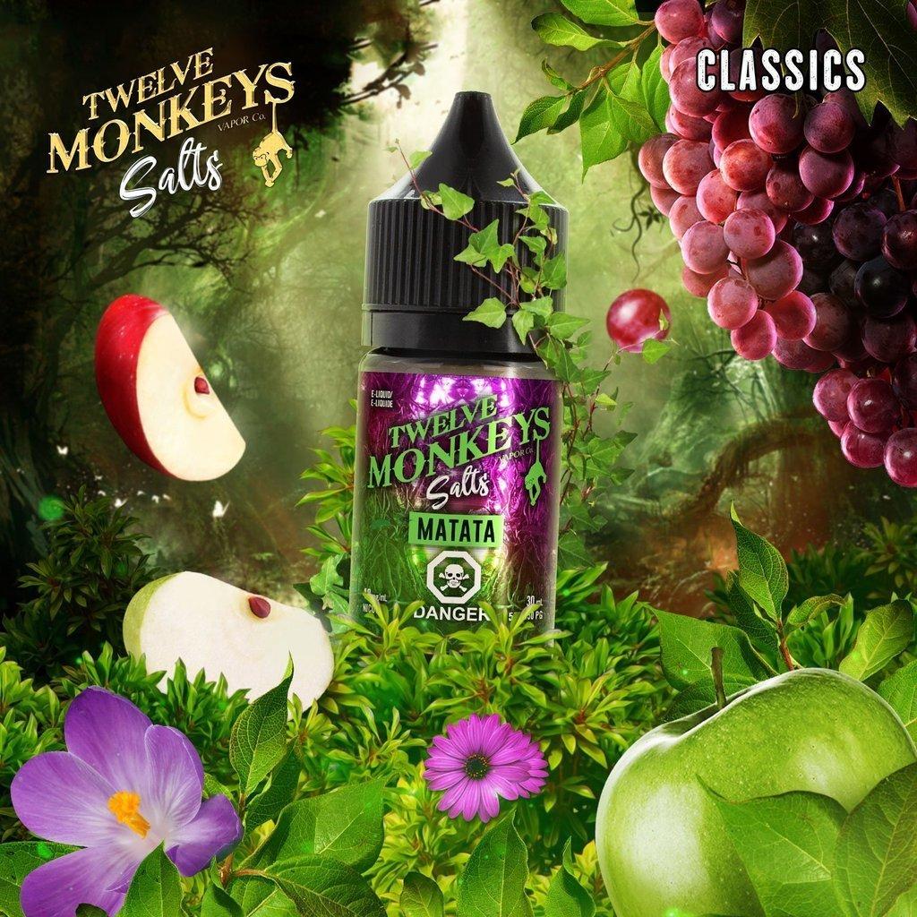 Twelve Monkeys Salt Matata تويلف مونكيز متاتا تفاح وعنب نيكوتين ملحي