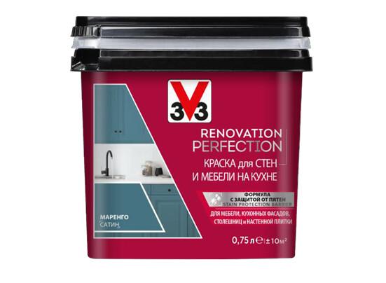 RENOVATION PERFECTION (DECOLAB): Краска для стен и мебели на кухне V33 0,75 л