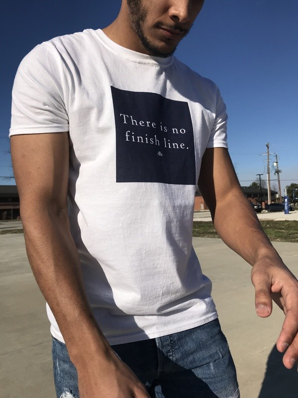 There is no Finish Line Short-Sleeve T-Shirt