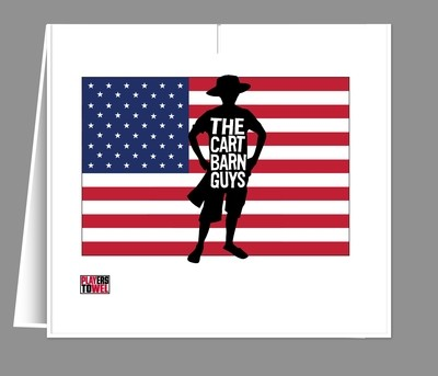 American Flag Cart Barn Guy Player Towel