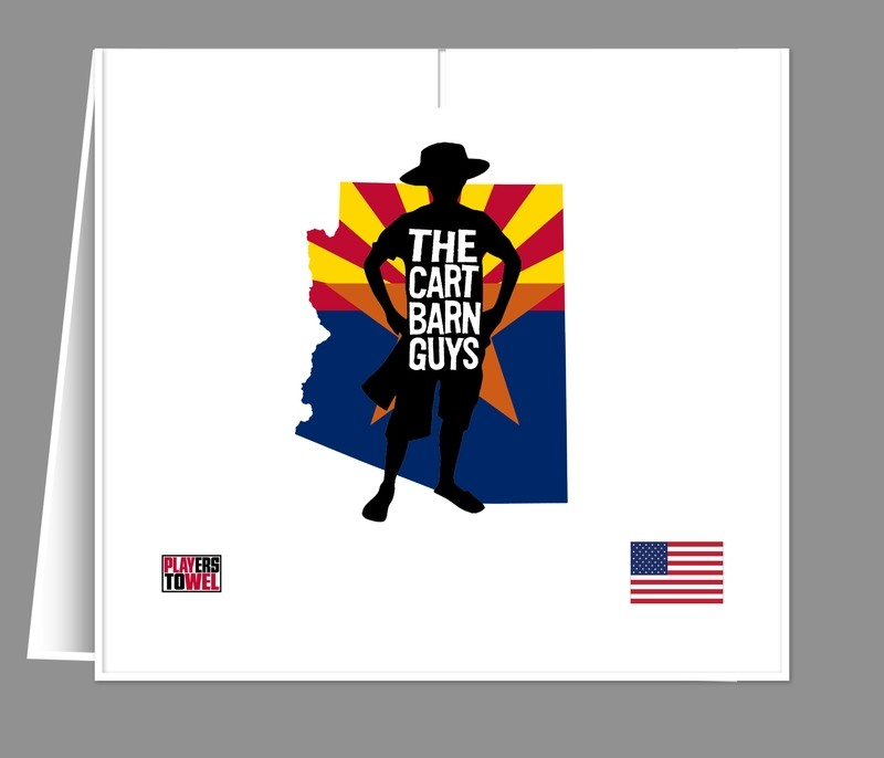 Arizona Flag Cart Barn Guy Player Towel