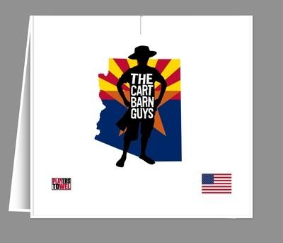 Arizona Flag Cart Barn Guy Player Towel