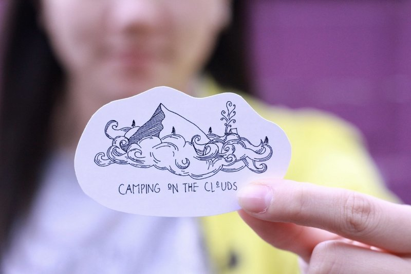 Camp On The Cloud Sticker