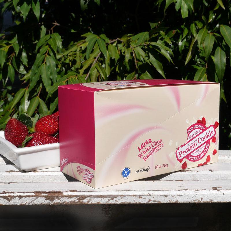 Justine's gluten-free cookie White Choc Raspberry 25g