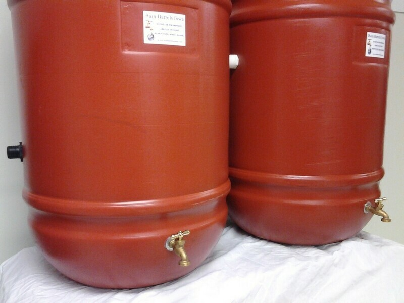 Double Rain Barrel Combo with internal overflow