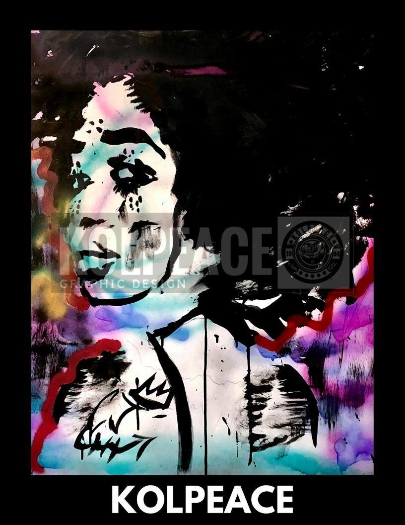 Foxy Blk | KOLPEACE PRINT 00032