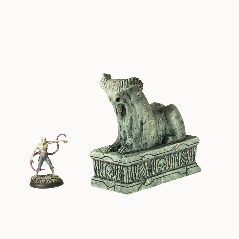 Necrosian Sphinx Small Statue