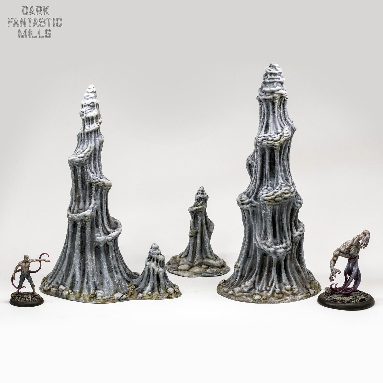 Doomcap Stalagmites, Set of 3