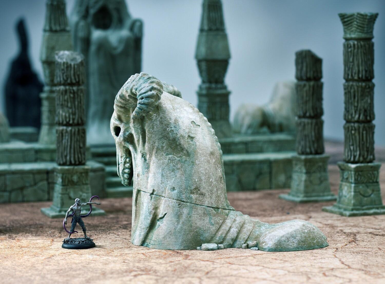 Ruined Necrosian Sphinx Head
