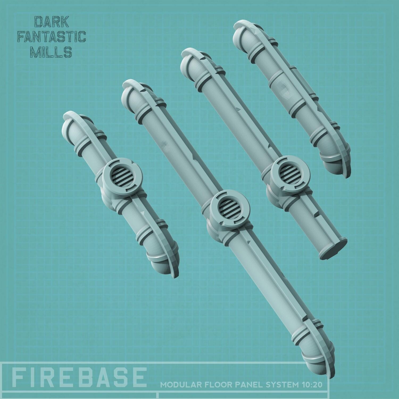 Firebase Pipes (set of 4)