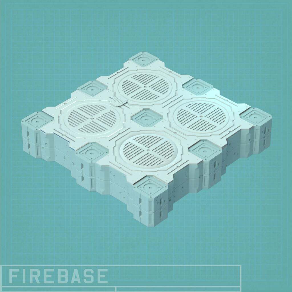 Firebase Floor/Deck Set