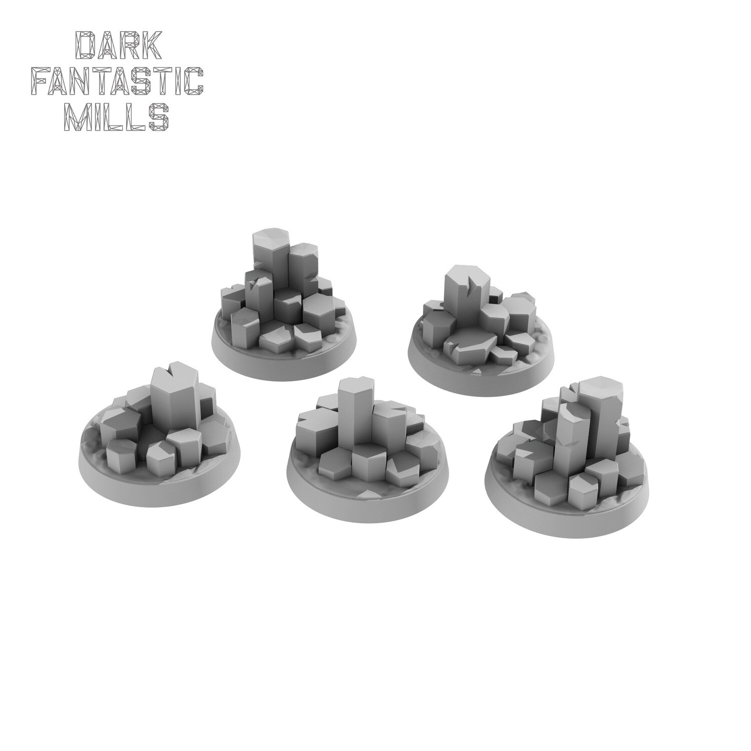 25mm Wyvern Waste Bases,  Tall