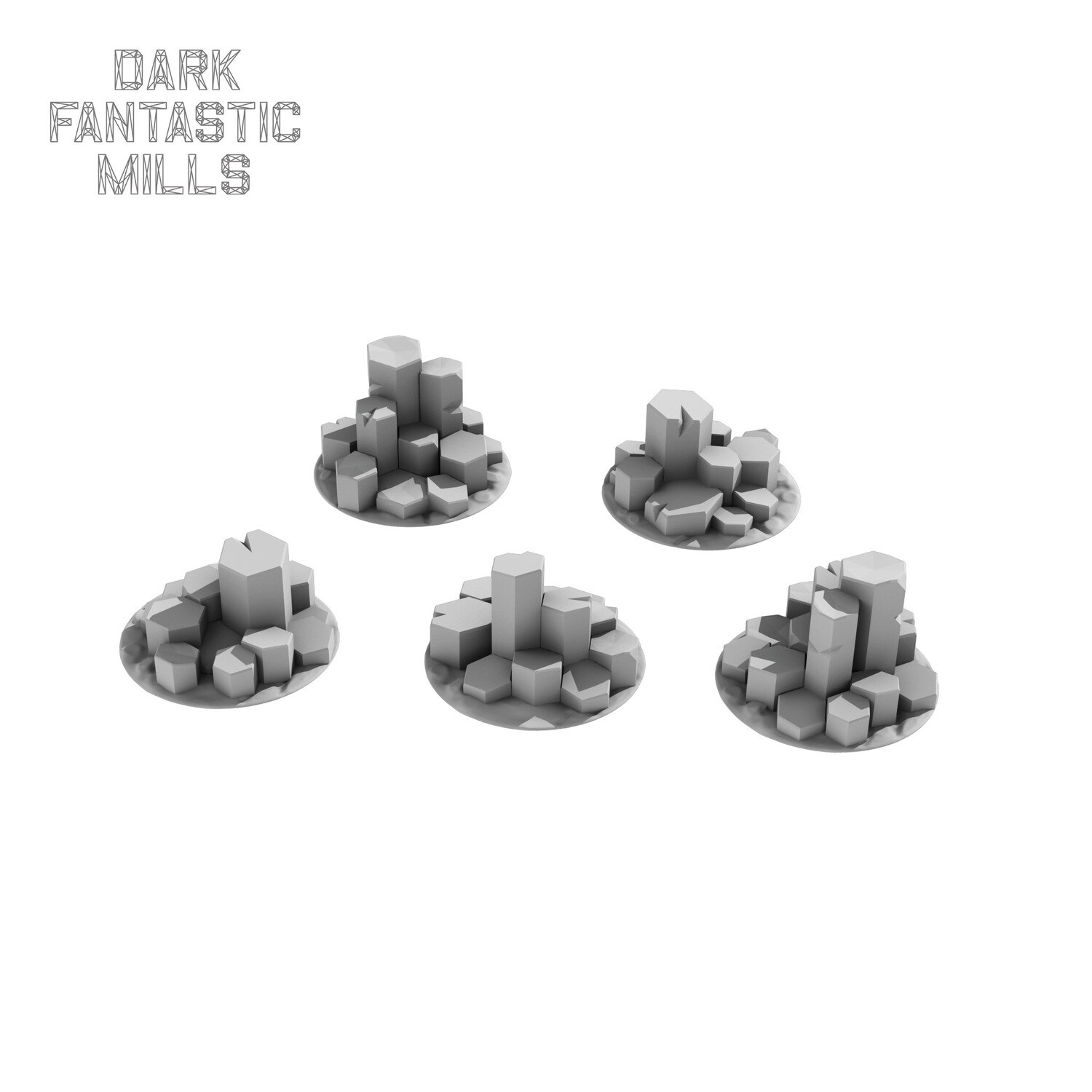 25mm Wyvern Waste Base Toppers,  Tall