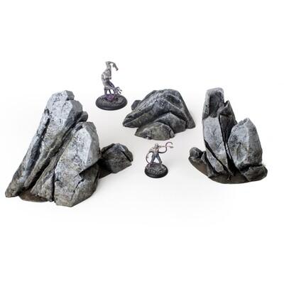 Rocky Outcrops, Set of 3