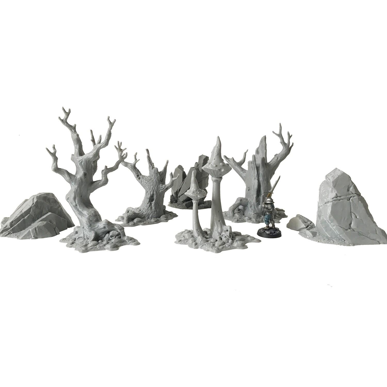 Forest Dark Scatter Set