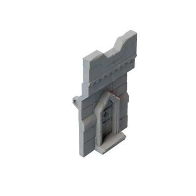 Stronghold Rampart Wall with Door
