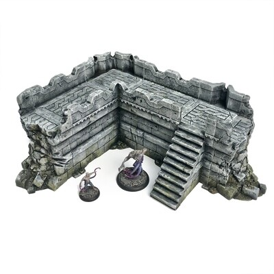 Stronghold Large Ruined Wall - save 30%!