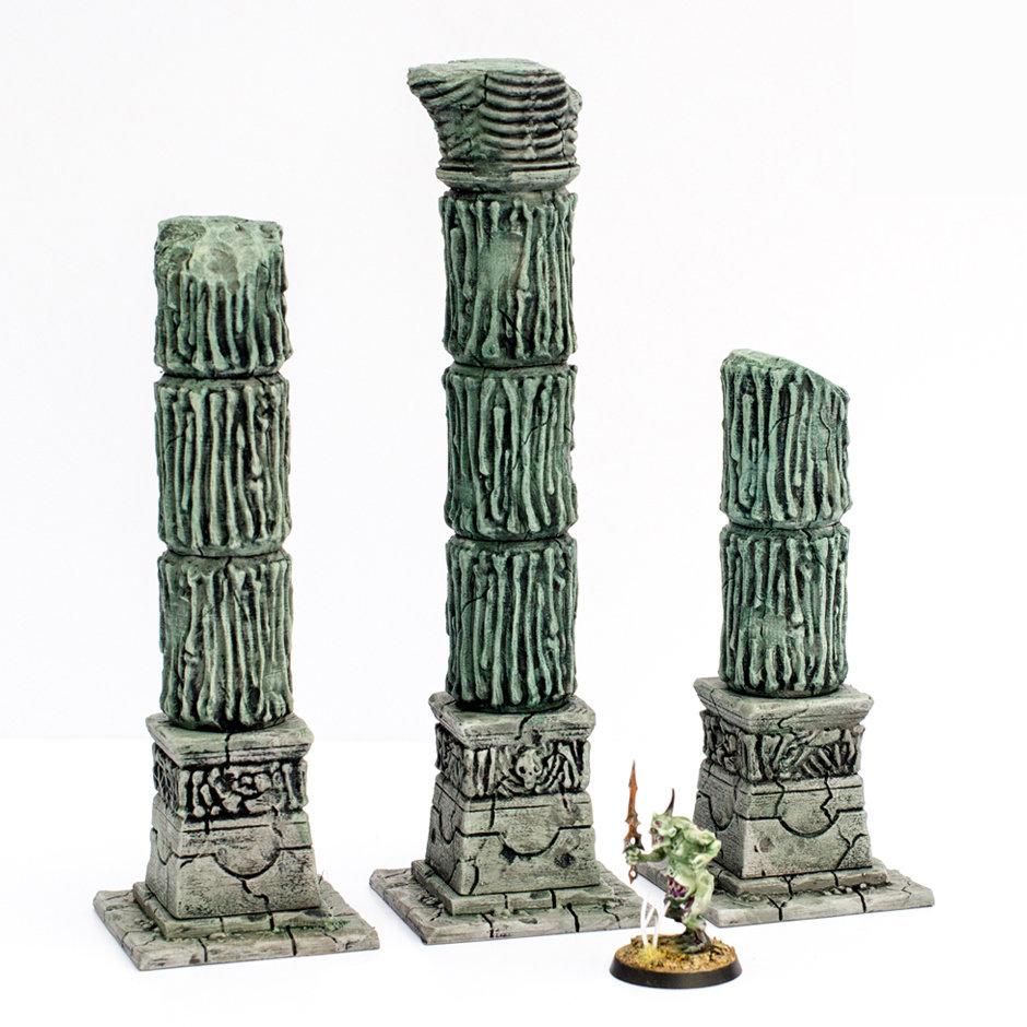 Necrosian Temple Pillars, set of three
