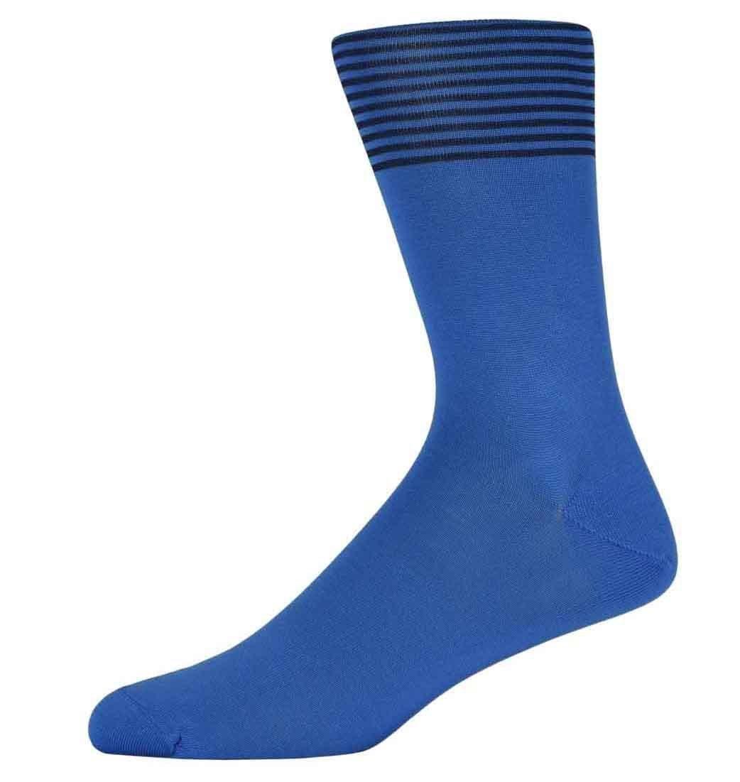 Bren Blue and Black Striped Socks