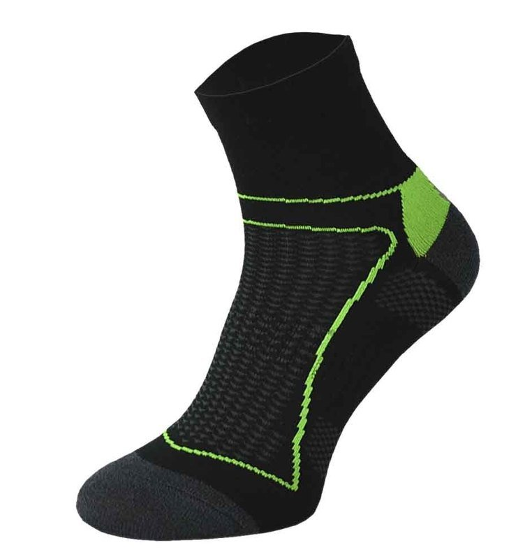Black and Green Cycling Socks
