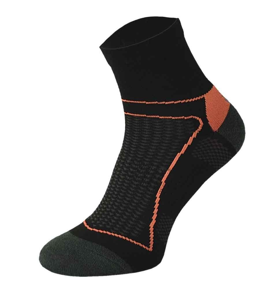 Black and Orange Cycling Socks