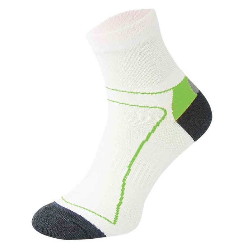 White and Green Cycling Socks