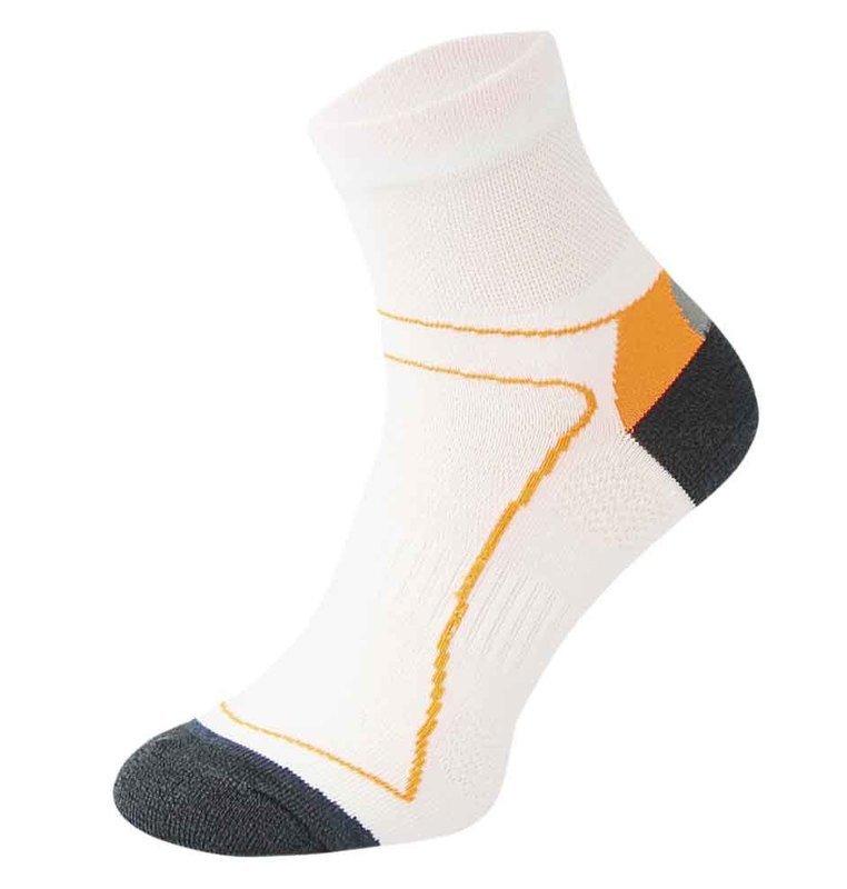 White and Orange Cycling Socks