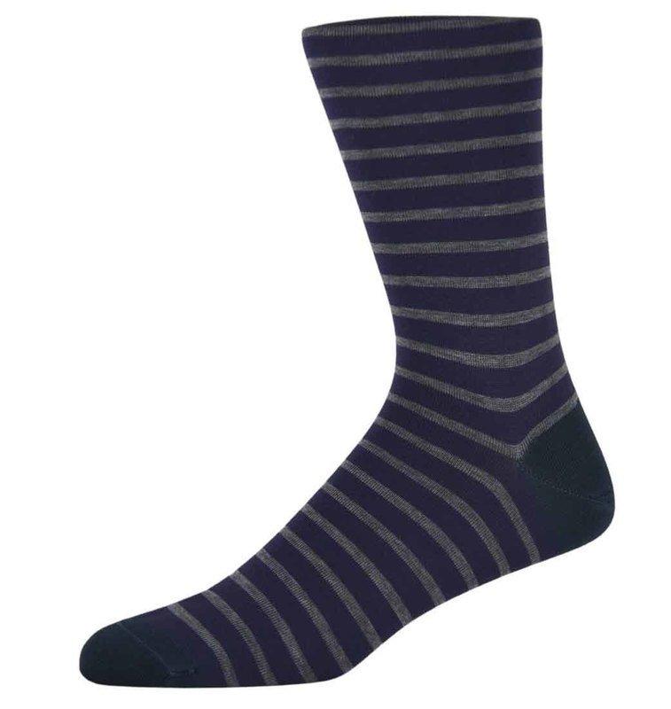 Ben Purple and Grey Striped Socks