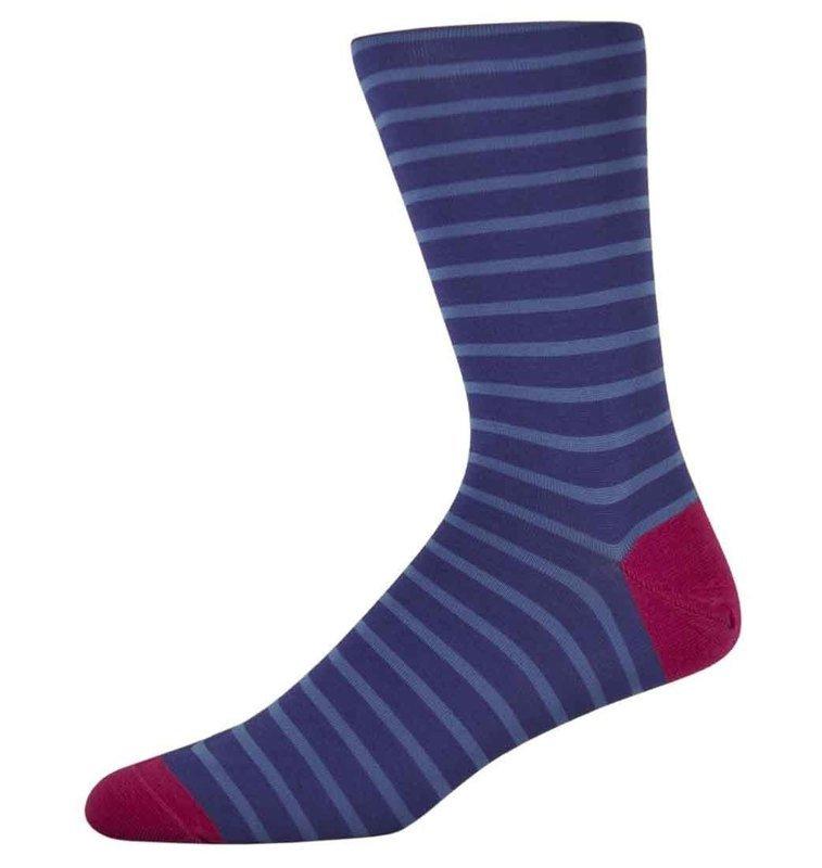Ben Royal Blue Striped Socks