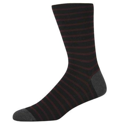 Ben Red and Black Striped Socks