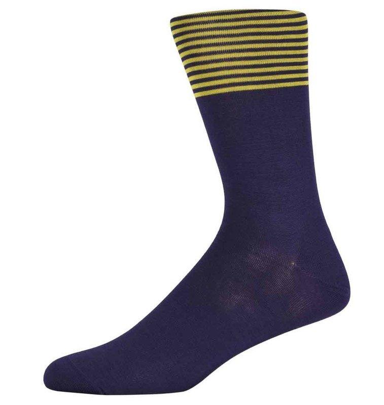 Bren Purple and Yellow Striped Socks