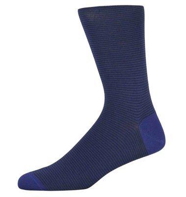 James Blue Fine Striped Socks