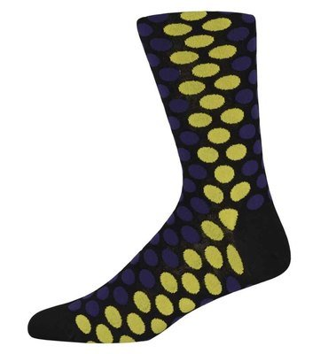 Jamie Yellow and Purple spotty socks
