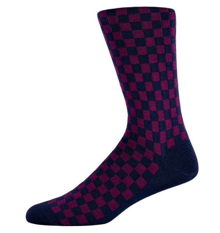 Nathan Berry checked socks