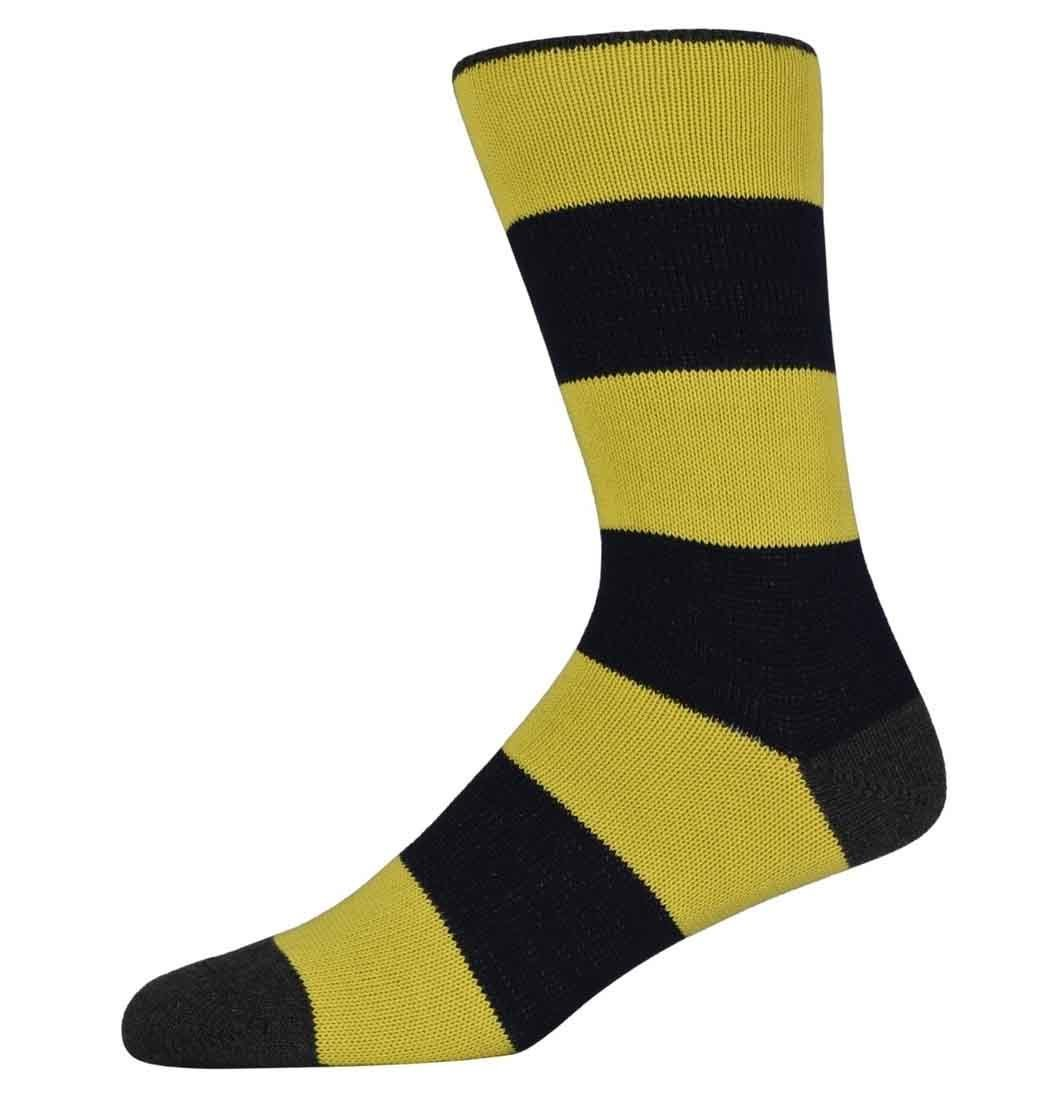 Peter Yellow and Black Thick Striped Socks