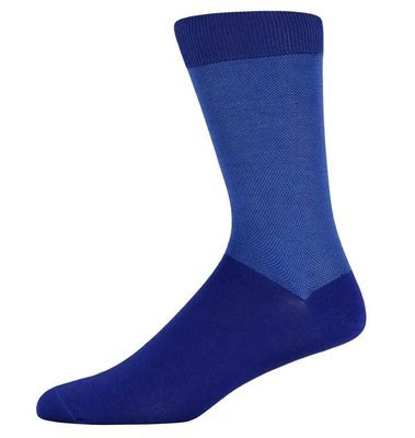 Richard Royal Blue birdseye top & tail socks