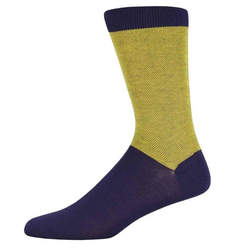 Richard Yellow birdseye top & tail Socks
