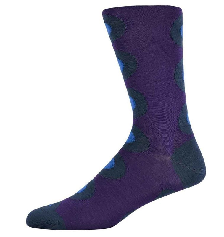 Robert Maroon and Blue spotty socks