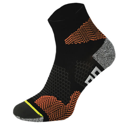 Black and Orange Running Socks
