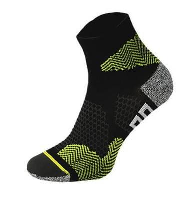 Black and Yellow Running Socks