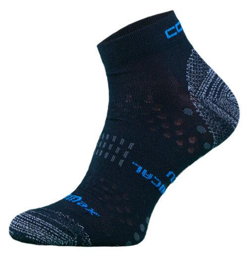 Black Coolmax Performance Running Socks