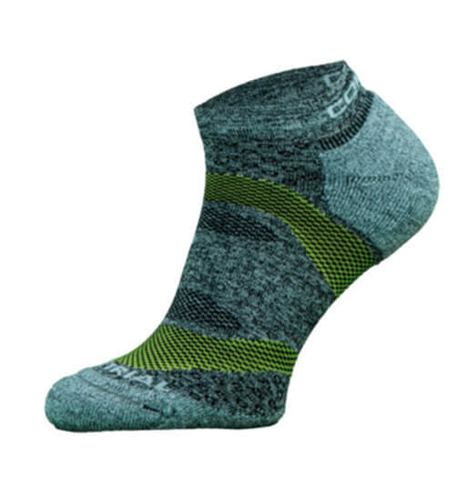 Blue and Green Trail Run Performance Socks