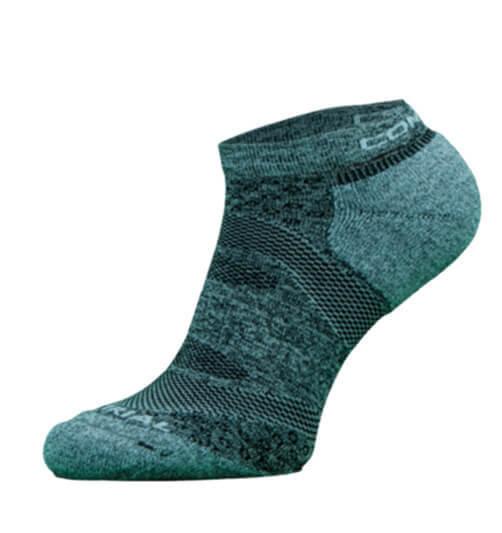 Blue and Grey Trail Run Performance Socks